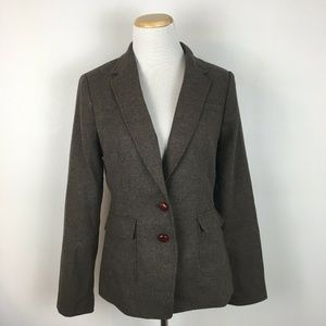 Banana Republic Women's Wool Elbow Blazer Size 8